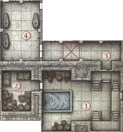 The south east corner of the Redbrand Hideout. Dungeon Master Tips